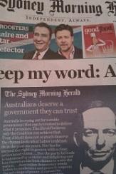 Sydney Morning Herald 6 September 2013